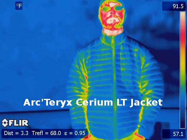 Arc'teryx Cerium LT Jacket Thermal Image