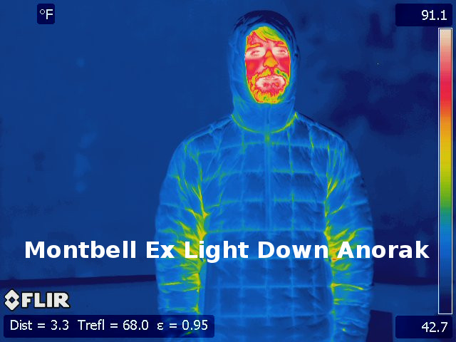 Montbell Ex Light Down Anorak Thermal Image - Hood