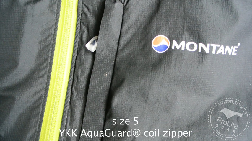 Montane Mountain Minimus YKK Aquaguard Zipper