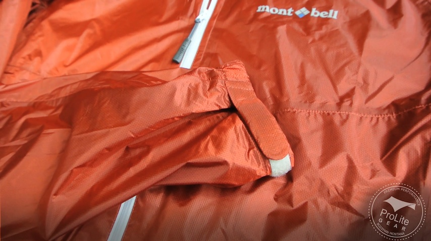 Montbell Versalite 8 inch Pit Zips