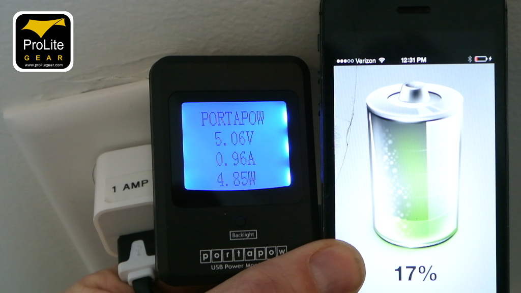 iPhone 5 charging using 1 amp charger