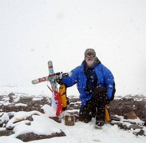 Uwe on the Aconcagua Summit