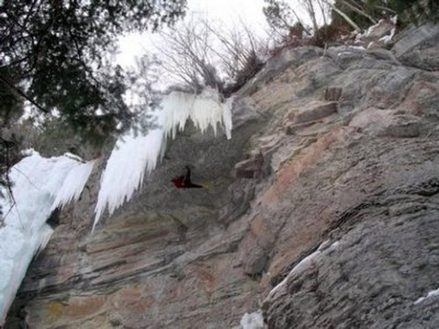 Ice Climbing near Vail, Colorado