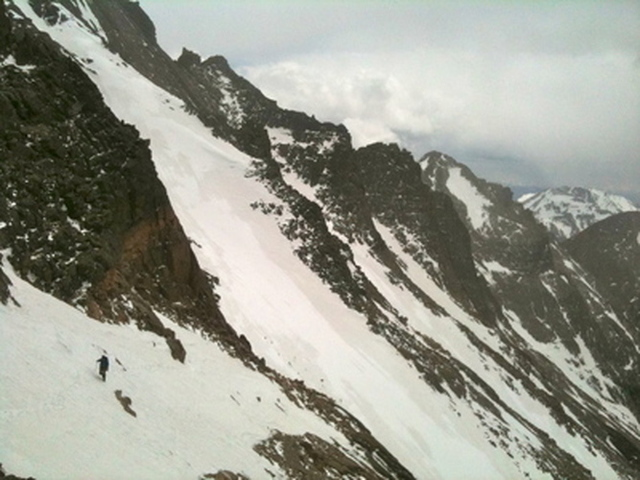 Joshua Sykes Descending Long's Peak