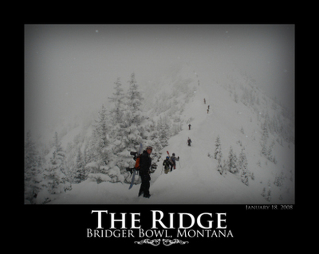 ProLite employee hiking the Ridge at Bridger