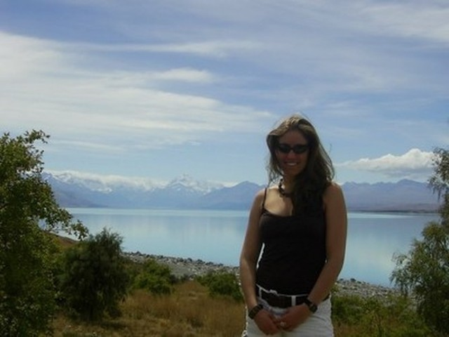 Prolite employee Meredith Leavens at the Southern Alps
