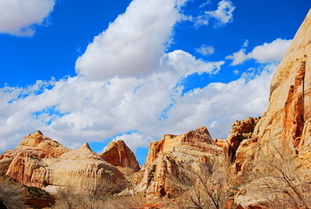 Sandstone formations in Capitol Reef National Park