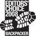 Backpackers Magazine Editors Choice 2008