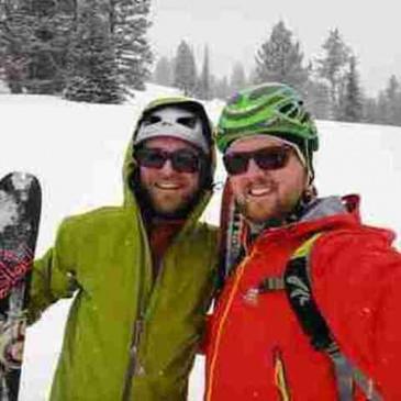 Nick and Brad skiing at Bridger Bowl