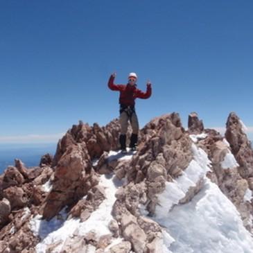 Local customer on Summit of Mt. Shasta