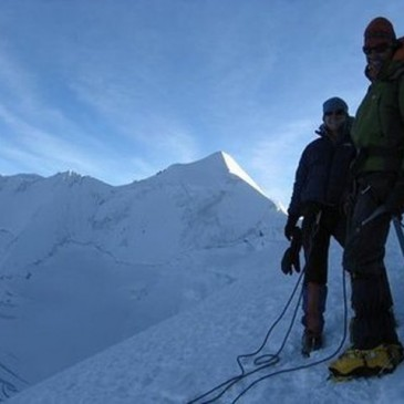 John Yarington climbing in Bolivia