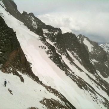 Joshua Sykes Descending Long's Peak