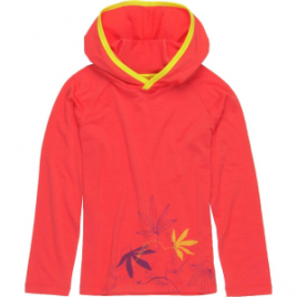 Icebreaker Tech Passion Vines Hooded Shirt – Long-Sleeve – Girls'