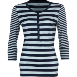 Icebreaker Tech Lite Stripe Henley – 3/4-Sleeve – Women's