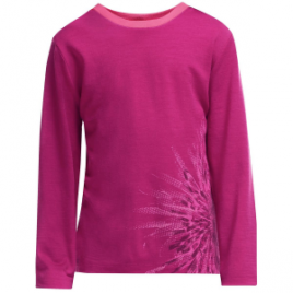 Icebreaker Tech Crewe Chrysanthenum Top – Long-Sleeve – Girls'