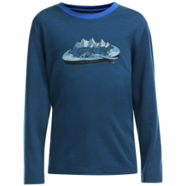 Icebreaker Tech Crewe Alps For Breakfast Top – Long-Sleeve – Boys'