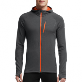 Icebreaker Quantum Hooded Full-Zip Shirt – Long-Sleeve – Men's