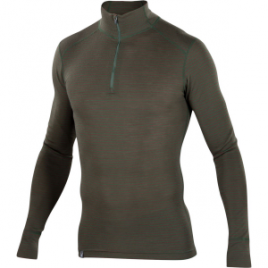 Ibex Woolies 1 Stripe Zip-Neck Top – Men's