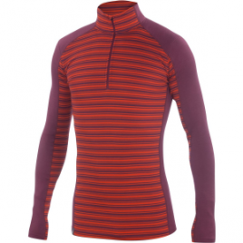 Ibex Woolies 2 Zip-Neck Stripe Top – Men's