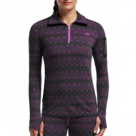 Icebreaker Vertex 1/2-Zip Fair Isle Top – Women's