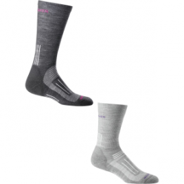 Icebreaker Hike Light Crew Socks – 2-Pack – Women's