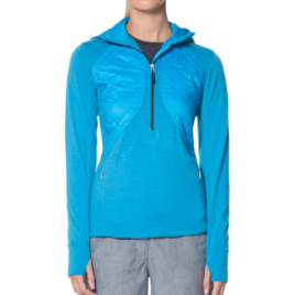 Icebreaker Ellipse 1/2-Zip Hooded Pullover – Women's