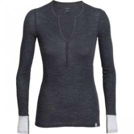Icebreaker Butter Rib Henley – Long-Sleeve – Women's
