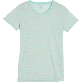 Icebreaker Tech Lite Stripe Crew – Short-Sleeve – Women's