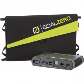 Goal Zero Sherpa 100 Solar Recharging Kit w Nomad 20 and 110V Inverter