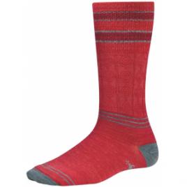 Smartwool Metallic Striped Cable Light Mid Calf Sock – Women's
