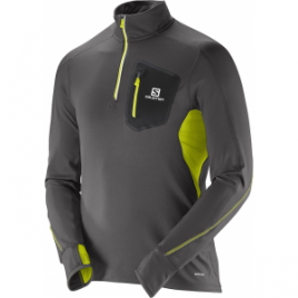 Salomon Trail Runner Warm Long Sleeve Zip Tee – Men's