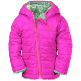The North Face Mossbud Swirl Reversible Hooded Fleece Jacket – Infant Girls'