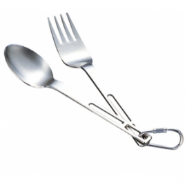 Evernew Titanium Fork and Spoon Set