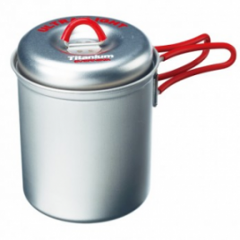 Evernew Titanium UltraLight Deep Pot (Red)