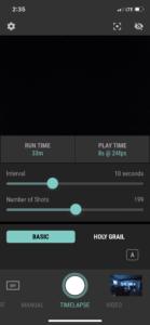 Arsenal Smart Camera Assistant Timelapse Mode